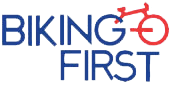 logo of biking first travels and tours